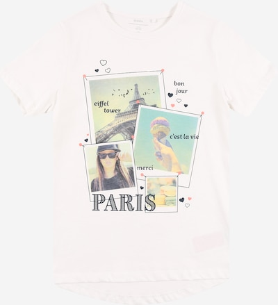 Guppy T-Shirt 'DOVE' en bleu clair / jaune clair / vert pastel / noir / blanc, Vue avec produit