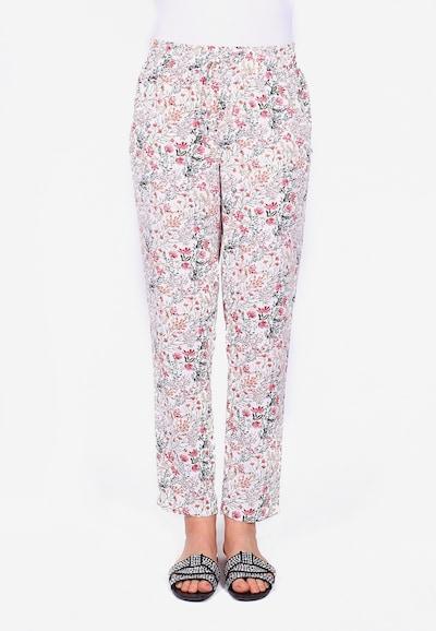 Le Temps Des Cerises Stoffhose TULIPA mit modischem Blüten-Print in pink / rosa / weiß, Modelansicht