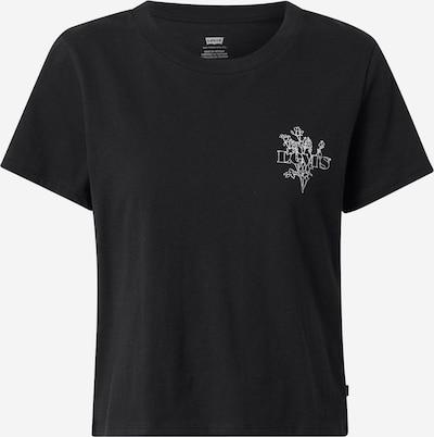 Tricou LEVI'S pe negru / alb, Vizualizare produs