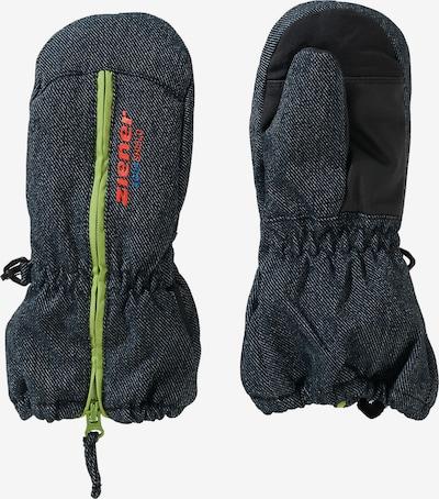 ZIENER Sporthandschuhe in blaumeliert / grün / rot, Produktansicht
