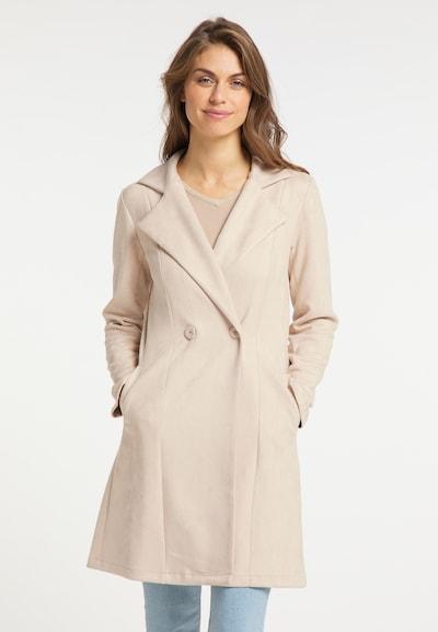 Usha Mantel in beige, Modelansicht