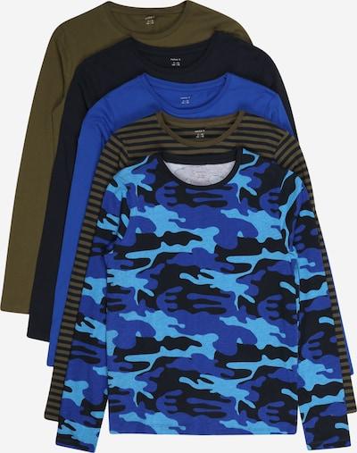 NAME IT Shirt 'NIQ' in blau / navy / hellblau / khaki, Produktansicht