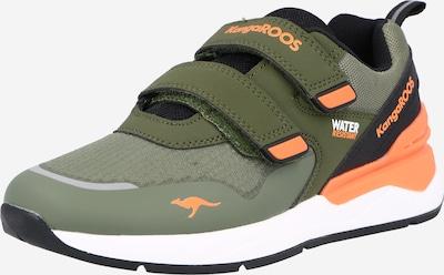 KangaROOS Sneaker i oliv / pastellgrön / orange, Produktvy