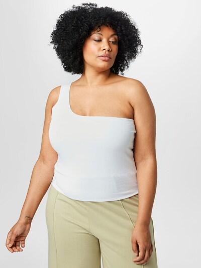 Cotton On Curve Топ в бяло: Изглед отпред