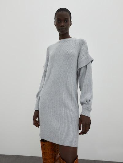 EDITED Pletené šaty 'Sonja' - sivá / sivá melírovaná, Model/-ka