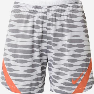 NIKE Sporthose in grau / orange / weiß: Frontalansicht