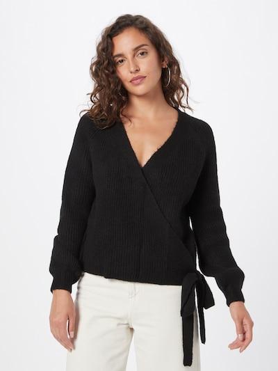 ONLY Gebreid vest 'Mia' in de kleur Zwart, Modelweergave