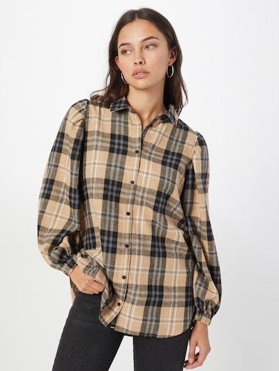 Moves Hemd in beige / braun / schwarz / weiß, Modelansicht