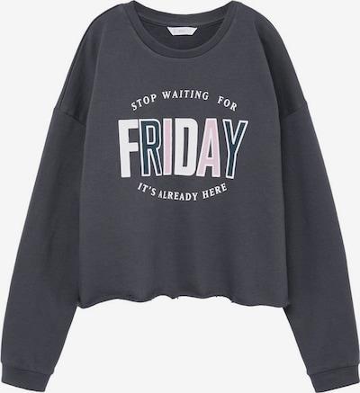 MANGO KIDS Sweatshirt in grau / pink / weiß, Produktansicht