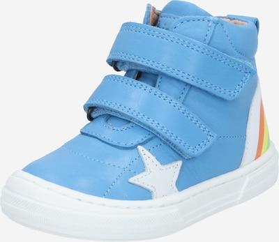 BISGAARD Sneaker 'Rainbow' in himmelblau / limone / hellgrün / hellrot / weiß, Produktansicht