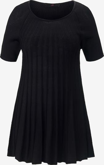 Emilia Lay Rundhals-Pullover mit Raglan-Halbarm in schwarz, Produktansicht