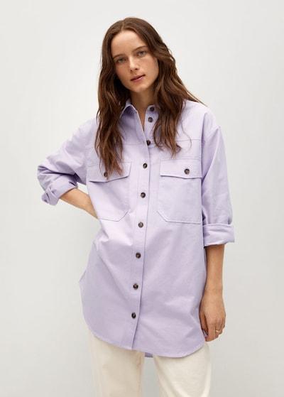 MANGO Bluzka w kolorze fioletowym, Podgląd na modelu(-ce)