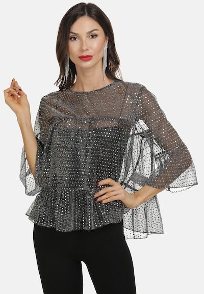 faina Blouse in de kleur Zwart / Zilver, Modelweergave