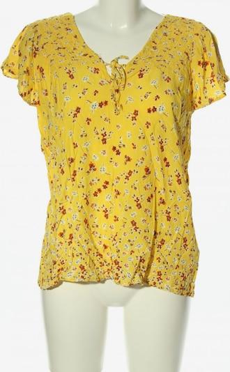 Paprika Kurzarm-Bluse in M in pastellgelb / rot / weiß, Produktansicht