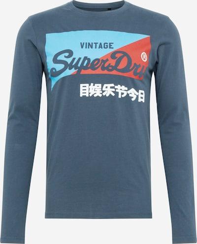 Tricou Superdry pe aqua / albastru închis / roșu / alb, Vizualizare produs