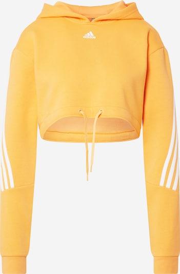 ADIDAS PERFORMANCE Sweat de sport en jaune d'or / blanc, Vue avec produit