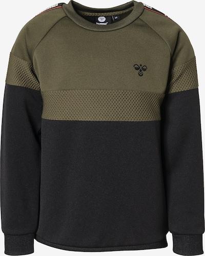 Hummel Sweatshirt 'Kane' in oliv / schwarz, Produktansicht