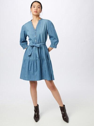 JACQUELINE de YONG Blusenkleid 'SILLE' in blue denim, Modelansicht