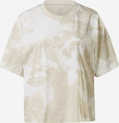 REEBOK Shirt in beige / weiß, Produktansicht