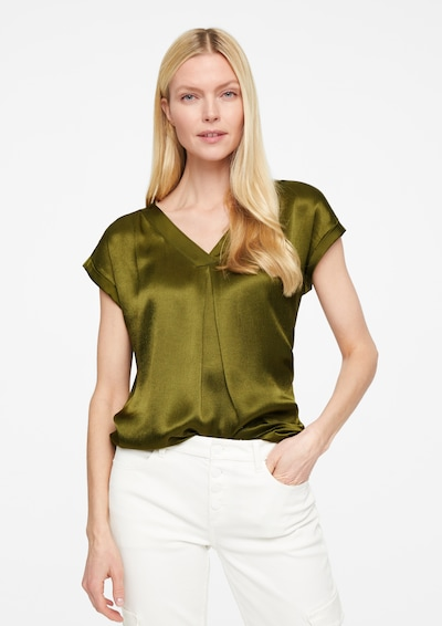 COMMA Bluse in oliv, Modelansicht