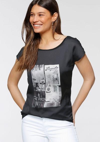 BRUNO BANANI Bluse in schwarz / weiß, Modelansicht