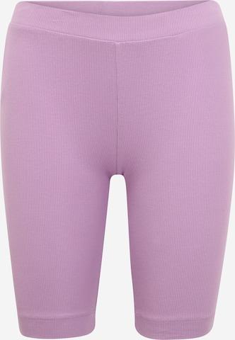 Pieces Petite Legginsy 'TAYA' w kolorze fioletowy
