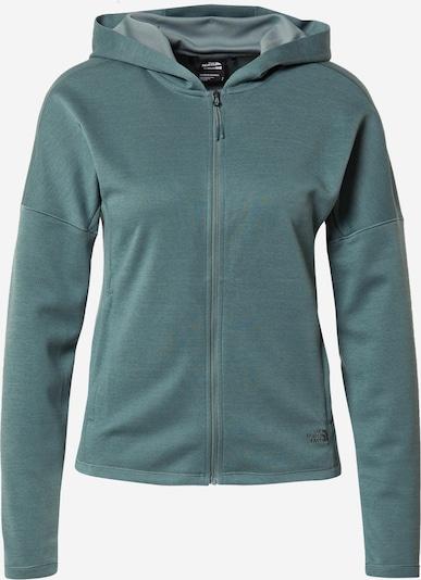 Bluză cu fermoar sport THE NORTH FACE pe verde jad, Vizualizare produs