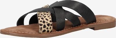 LAZAMANI Pantoletten in braun / schwarz, Produktansicht