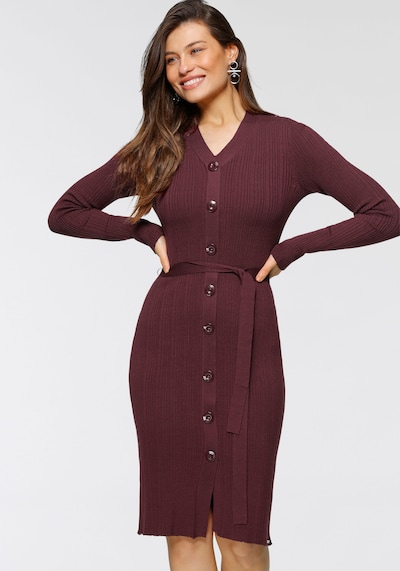 BRUNO BANANI Knitted dress in Bordeaux, View model