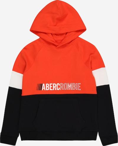 Abercrombie & Fitch Sweatshirt in rot / schwarz / weiß, Produktansicht