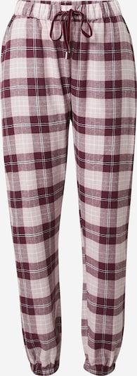 Hunkemöller Pyžamové nohavice - bordová / biela, Produkt