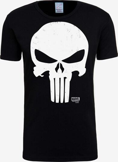 LOGOSHIRT T-Shirt 'Punisher' in schwarz / weiß, Produktansicht