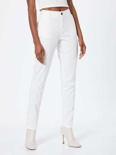 s.Oliver Chino trousers in White, View model
