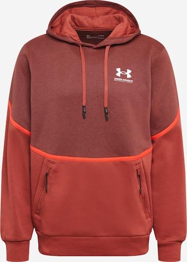 UNDER ARMOUR Sweatshirt 'Rival' in bordeaux / rostrot / feuerrot / weiß, Produktansicht