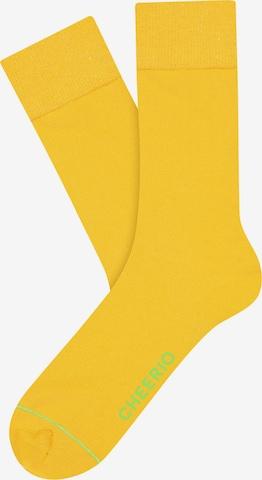 Chaussettes 'BEST FRIEND' CHEERIO* en jaune