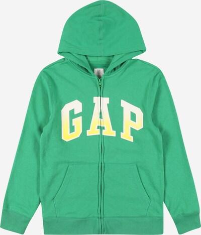 GAP Sweatjacke in gelb / grasgrün / weiß, Produktansicht