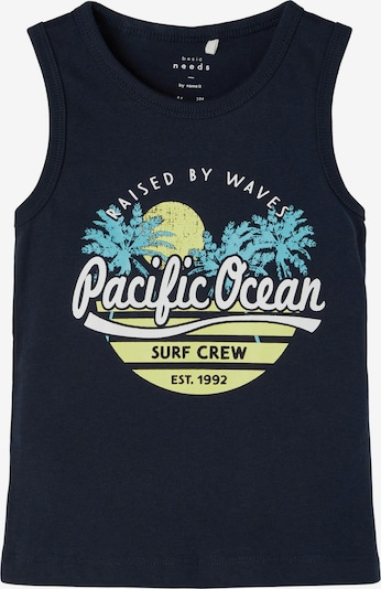 NAME IT Koszulka 'Vagno' w kolorze niebieski / niebieski ultramaryna / żółty / białym, Podgląd produktu