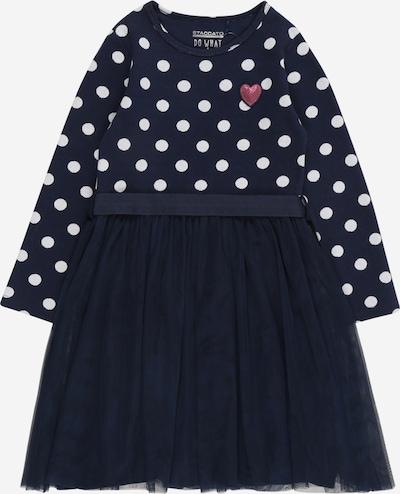 STACCATO Kleid in dunkelblau / pink / weiß, Produktansicht
