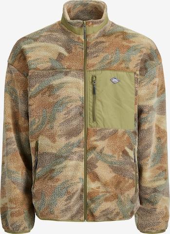 JACK & JONES Fleece jacket 'WILLI' in Mixed colours