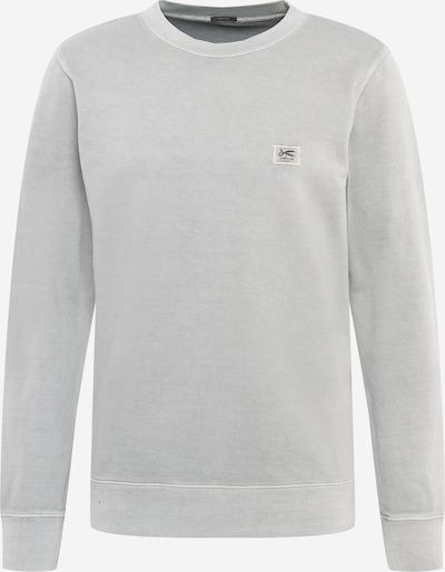 DENHAM Sweatshirt in de kleur Lichtgrijs / Zwart, Productweergave