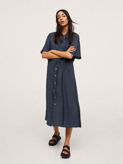 MANGO Košeľové šaty 'Mari' - námornícka modrá, Model/-ka
