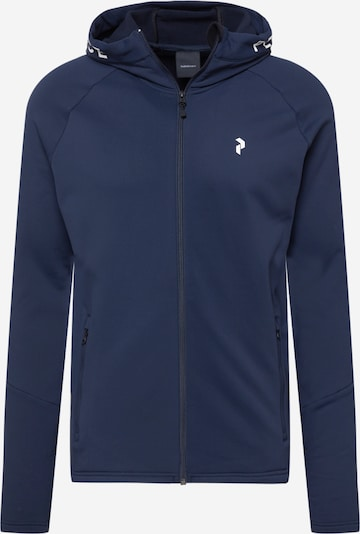 PEAK PERFORMANCE Athletic Jacket in Navy / White, Item view