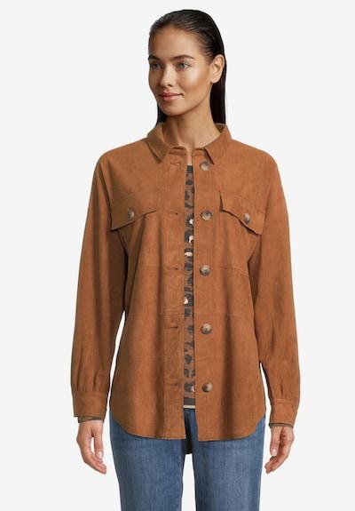Betty & Co Overshirt in braun, Modelansicht