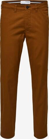 Pantalon chino 'Miles' SELECTED HOMME en marron