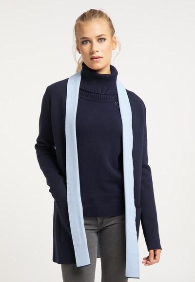 usha BLUE LABEL Strickjacke in navy / himmelblau, Modelansicht