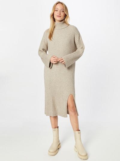 VILA Knitted dress in mottled beige, View model