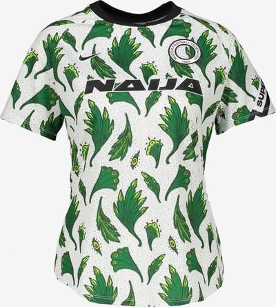 NIKE Shirt in grün / grasgrün / rot / schwarz / offwhite, Produktansicht