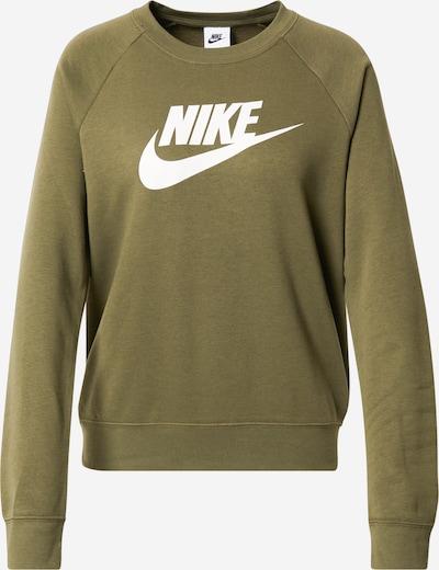 Nike Sportswear Sportsweatshirt in oliv / weiß, Item view