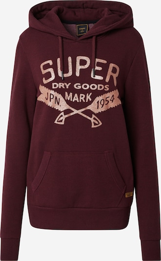 Superdry Sweatshirt in rosegold / burgunder, Produktansicht
