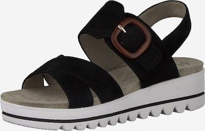 JANA Sandale in braun / schwarz, Produktansicht